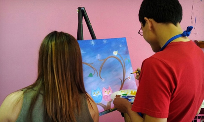 Pink Elephant Art Studio - Portland: Three-Hour BYOB Painting Class for One, Two, or Four at Pink Elephant Art Studio (Up to 54% Off)