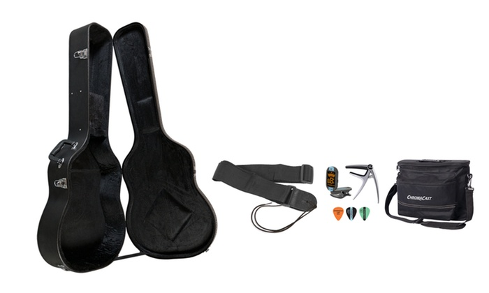 ChromaCast Acoustic-Guitar Hard Case and Accessory Bundle: ChromaCast Acoustic-Guitar Hard Case and Accessory Bundle. Free Shipping and Returns.
