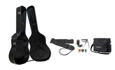 ChromaCast Acoustic-Guitar Hard Case and Accessory Bundle