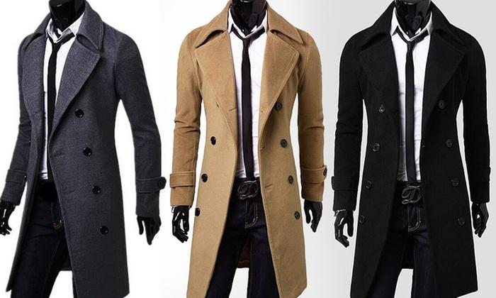 manteau homme cachemire et laine groupon. Black Bedroom Furniture Sets. Home Design Ideas
