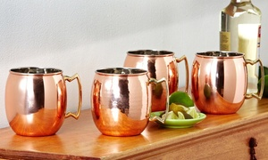 Set Of 2 Old Dutch 16 Oz. Hammered Or Smooth Copper Moscow Mule Mugs