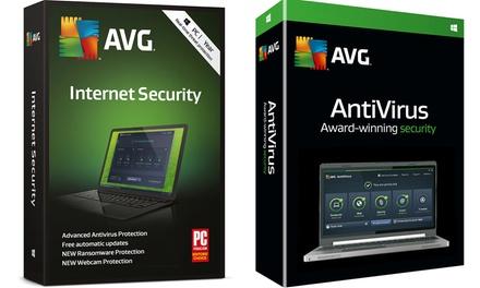 AVG Anti virus of Internet Security 2019 voor 3 pcs voor 2 jaar