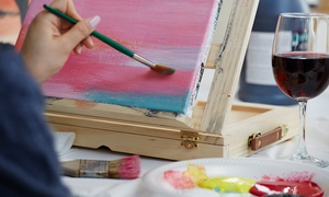 The Brush Bar: Three-Hour Painting Lesson at The Brush Bar (56% Off)