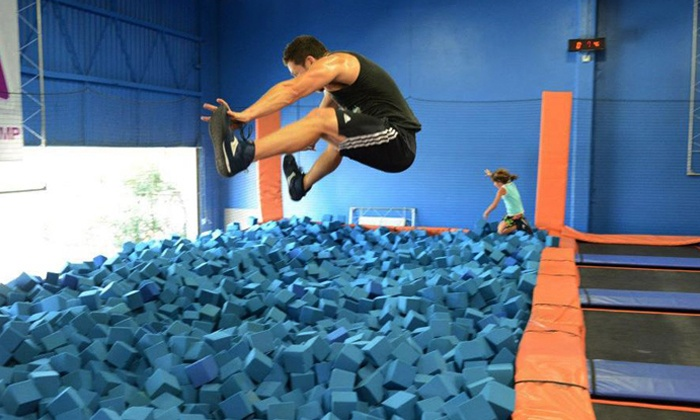Sky Zone - Colony Crossing: $16 for Two 60-Minute Indoor Trampoline Jump Sessions at Sky Zone ($26 Value)