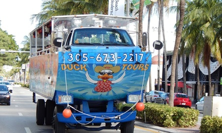 90-Minute Duck Boat Tour for One or Two from Duck Tours South Beach (Up to 22% Off)