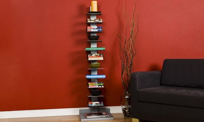 SEI Modern, Versatile 11-Shelf Book Tower: SEI Modern, Versatile 11-Shelf Book Tower