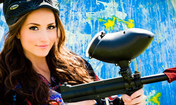 Paintball International - Multiple Locations: All-Day Paintball Package with Equipment Rental for Up to 4, 6, or 12 at Paintball International (Up to 89% Off)