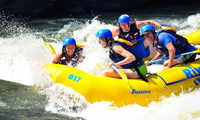 Adventures on the Gorge - Lansing: River Raft Trip with 2 Nights Camping and Optional Aerial Course from Adventures on the Gorge (Up to 51% Off).