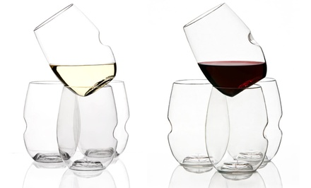 Govino Set of 8 Shatterproof Wineglasses or Govino Set of 4 Shatterproof Wineglasses with Decanter