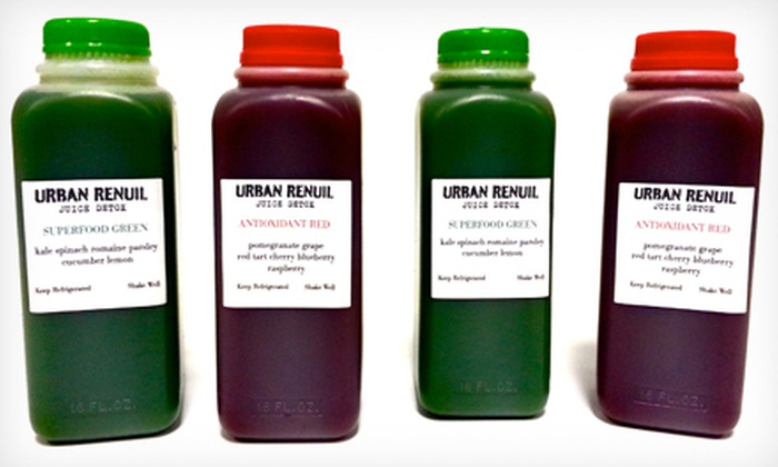 Urban Renuil - Multiple Locations: $89 for a Three-Day Juice Cleanse at Urban Renuil ($180 Value)