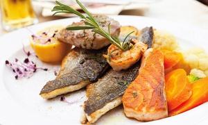 Vida- Restaurant: Mediterrane Fischplatte mit Meeresfrüchten inkl. je 1 Espresso für 2 oder 4 Personen im Vida-Restaurant (30% sparen*)