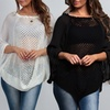 Women's Bohemian Batwing Top with Crocheted Accents