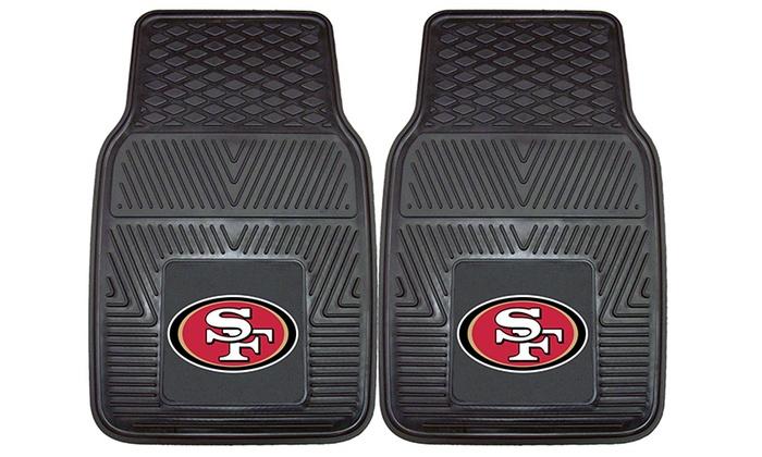 San Francisco 49ers 2-Piece Heavy-Duty Vinyl Car Mat Set: San Francisco 49ers 2-Piece Heavy-Duty Vinyl Car Mat Set