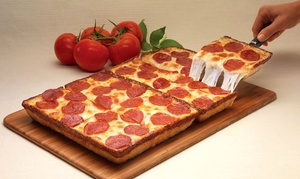 Jet's Pizza River North: One Large Pizza with Jet's Bread or Two Party Tray Pizzas with Jet's Bread at Jet's Pizza River North (Up to 40% Off)