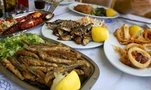 Linde Kretische Spezialitäten: 4-Gänge-Menü mit Fischplatte inkl. Digestif für 2 oder 4 Personen bei Linde Kretische Spezialitäten (bis zu 46% sparen*)
