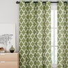 Ikat Cotton Blend Window Panel with Grommets
