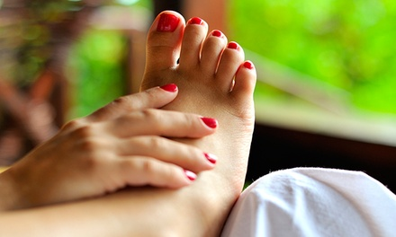 Regular, Shellac, or a Spa Princess Manicure and Pedicure at The Esthetic Studio (Up to 52% Off)