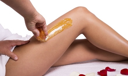 Sugaring for the Face, Brazilian, or Full-Leg & Bikini Area at Solutions Skincare & Laser Center (Up to 54% Off)