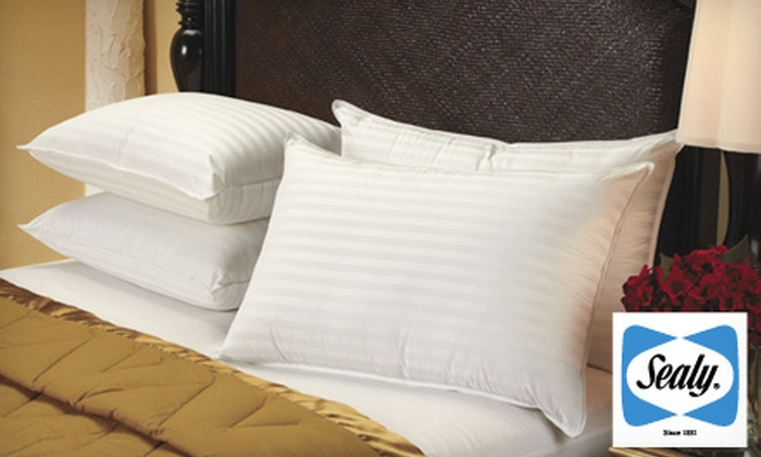 Four-Pack of 400-Thread-Count Sealy Supima Cotton Pillows: $39 for a Four-Pack of Sealy 400-Thread-Count Supima Cotton Dobby-Stripe Pillows ($80 List Price)