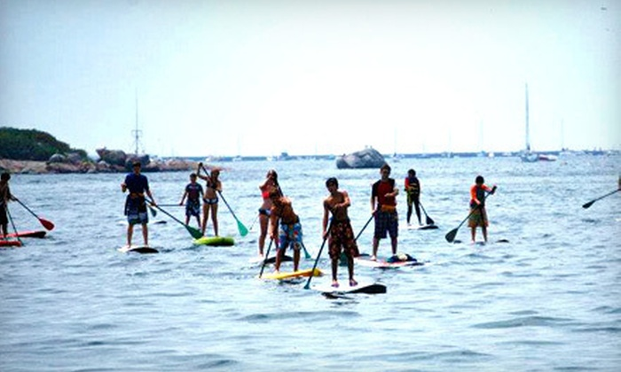 Cape Ann SUP - Gloucester: Paddleboarding Lesson or Four-Hour Paddleboard Rental with Mini Lesson for Two or Four at Cape Ann SUP (Up to 59% Off)