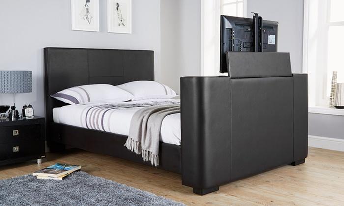 Tv In Bed : Sweet dreams mazarine ft superking adjustable tv bed bedstar