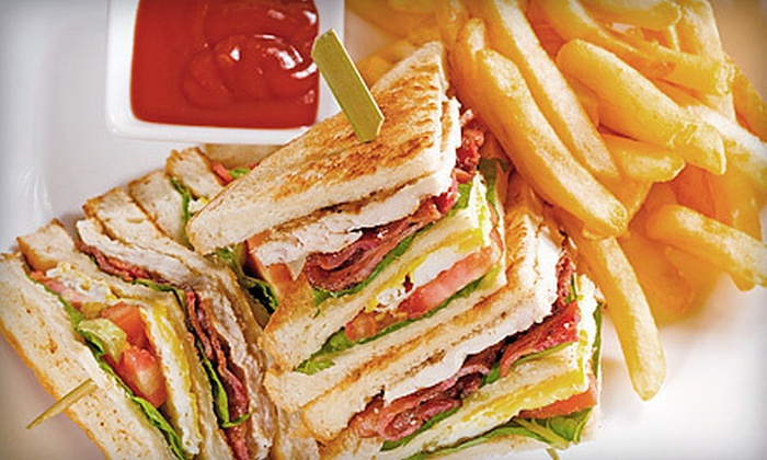 7A Cafe - East Village: $29 for a Casual American Meal for Two with Appetizer, Entrees, and Wine at 7A Cafe (Up to $66.85 Value)