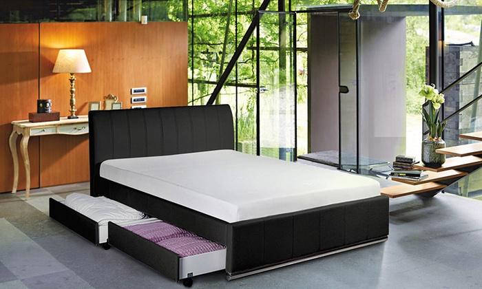 lit espace tiroir sampur groupon shopping. Black Bedroom Furniture Sets. Home Design Ideas