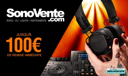 Bon dachat de 60 € ou 300 € chez SonoVente.com dès 30 € (jusquà 50% de réduction)