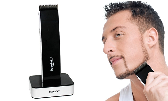 milex v rechargeable hair mustache and beard trimmer groupon. Black Bedroom Furniture Sets. Home Design Ideas