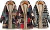 Women's Patchwork Fleece-Lined Coat