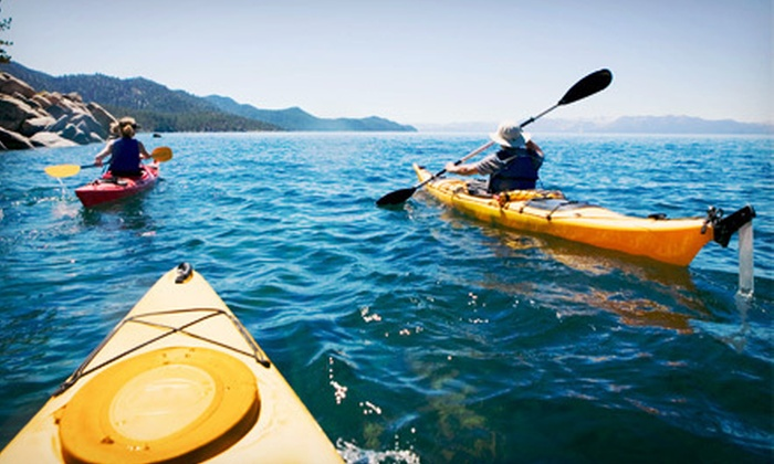 Beach Town Tours - Galveston Island: Reef Kayak Tour for 2 or Two-Hour Guided Kayak Tour for 2, 4, or 6 from Beach Town Tours (Up to 64% Off)