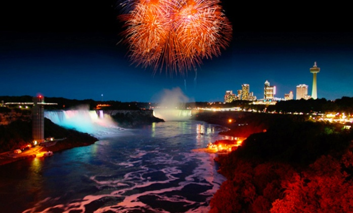 1-Night Stay with Dining and Activity Credits at the Embassy Suites Niagara Falls (Up to 66% Off)