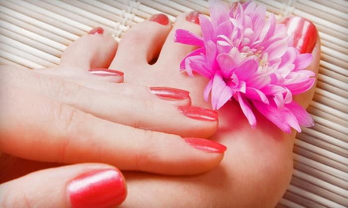 Lori's Styling Salon - Ellwood City: Spa Manicure and Pedicure or Shellac Manicure and Spa Pedicure at Lori's Styling Salon (Half Off)