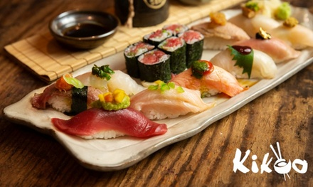 $30 for Two Hours of All-You-Can-Eat Sushi and Sashimi with Drinks for One at Kikoo Sushi ($60 Value)