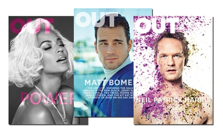 Subscriptions to OUT Magazine from $7–$17
