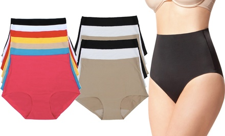 High-Waisted Tummy-Control Panties (6-Pack)