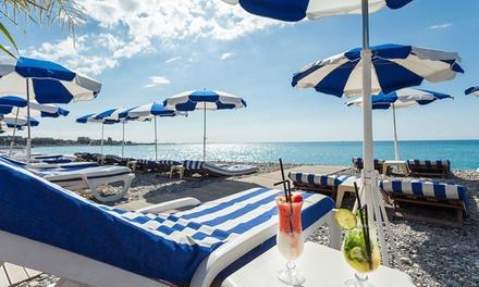 1 journée de location de 2 transats avec 1 parasol à 14,99 € à la plage Le Cigalon Cagnes