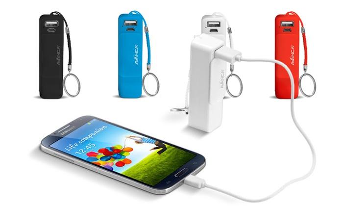 Mobiler USB Akku Avanca Powerbar 2000 für Smartphones, optional inkl. 3 in 1 Ladekabel, ab 7,90 € (bis zu 74% sparen*)