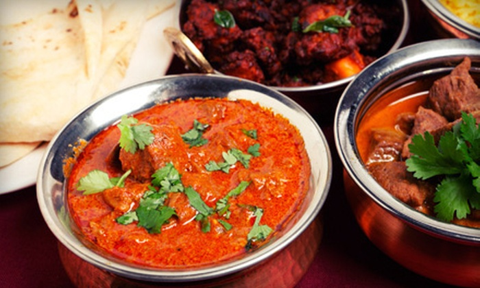 Agra Indian Kitchen and The Indian Kitchen - Multiple Locations: Indian Food and Drinks at Agra Indian Kitchen and The Indian Kitchen (Half Off). Two Options Available.