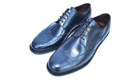 lamazi mens lace leather shoes