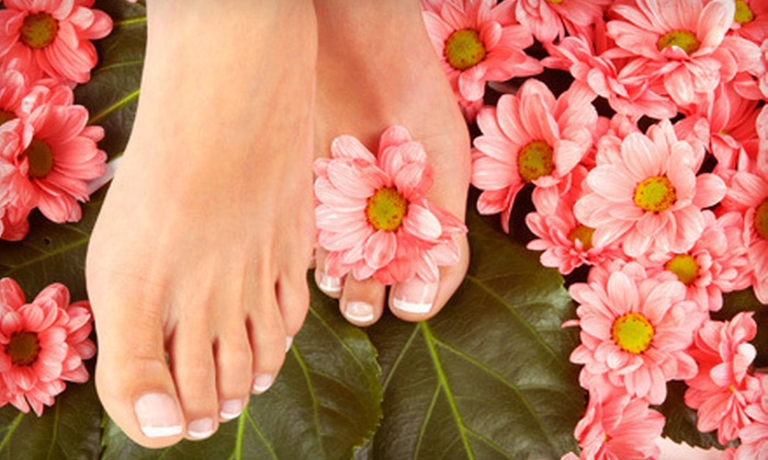 The Retreat Salon and Day Spa - Dublin: $55 for a Deluxe Spa Mani-Pedi with Refreshments and Gift Card at The Retreat Salon and Day Spa in Dublin (Up to $145 Value)