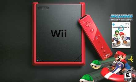 Wii Mini (Manufacturer Refurbished) with Mario Kart Wii