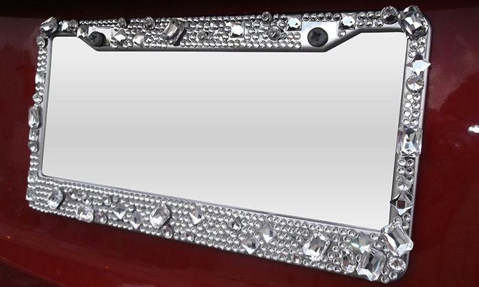 Jewel License Plate Frame | Groupon Goods