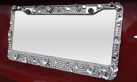Jewel License Plate Frame