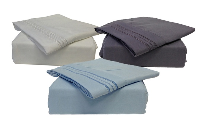 Embroidered Microfiber Sheet Set (Shipping Included)