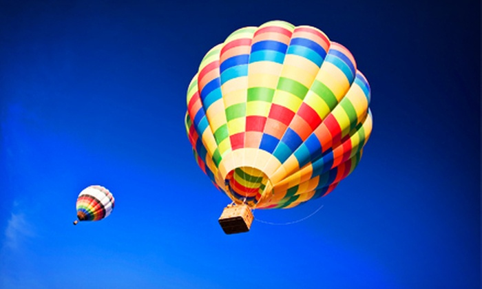 SunKiss Ballooning - West Glens Falls - Park and Ride: $249 for a Hot Air Balloon Excursion and Champagne Picnic for Two from SunKiss Ballooning ($500 Value)