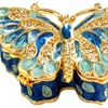 Metallic Butterfly Jewelry Box with Crystals