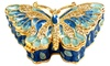 Metallic Butterfly Jewelry Box with Crystals: Metallic Butterfly Jewelry Box with Crystals