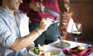 Nelore Churrascaria Brazilian Steakhouse: Rodizio Dinner for Two, Four, or Six at Nelore Churrascaria Brazilian Steakhouse (Up to 40% Off)