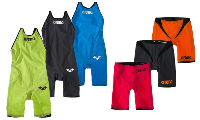 race costume CARBON PRO ARENA and ARENA POWERSKIN suit FLEX JAMMER, open water wetsuit from triathlon. Online sale price
